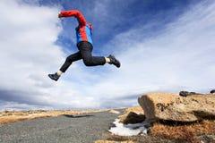 πηδώντας άτομο Στοκ εικόνα με δικαίωμα ελεύθερης χρήσης