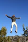 πηδώντας άτομο Στοκ εικόνες με δικαίωμα ελεύθερης χρήσης