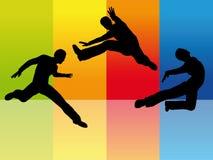 πηδώντας άτομο διανυσματική απεικόνιση