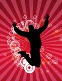 πηδώντας άτομο Στοκ φωτογραφία με δικαίωμα ελεύθερης χρήσης