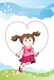 πηδώντας αγάπη κοριτσιών Στοκ φωτογραφία με δικαίωμα ελεύθερης χρήσης