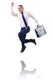 Πηδώντας επιχειρηματίας Στοκ φωτογραφία με δικαίωμα ελεύθερης χρήσης
