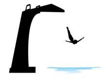 πηδώντας λίμνη ελεύθερη απεικόνιση δικαιώματος