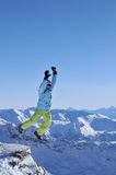 πηδώντας χειμώνας Στοκ Εικόνες