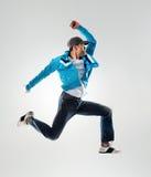 Πηδώντας χορευτής λυκίσκου ισχίων στοκ εικόνα με δικαίωμα ελεύθερης χρήσης