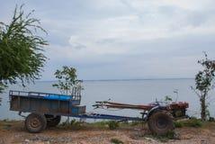 Πηδάλιο για τον τοίχο πίσω της Ταϊλάνδης Στοκ Εικόνες