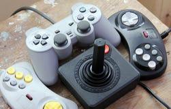 Πηδάλιο Playstation με το εκλεκτής ποιότητας πηδάλιο Στοκ Εικόνες