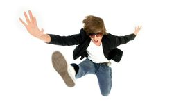 πηδώντας άτομο Στοκ φωτογραφίες με δικαίωμα ελεύθερης χρήσης