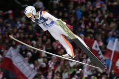 Πηδώντας Παγκόσμιο Κύπελλο σκι FIS σε Zakopane 2016 Στοκ Φωτογραφίες