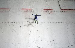 πηδώντας σκι στοκ φωτογραφίες