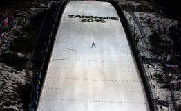 πηδώντας σκι στοκ εικόνες με δικαίωμα ελεύθερης χρήσης
