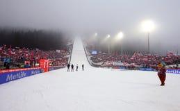πηδώντας σκι στοκ φωτογραφία με δικαίωμα ελεύθερης χρήσης