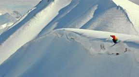 πηδώντας σκι Στοκ Εικόνες