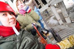 Πηδώντας υπόβαθρο θαμπάδων θέματος γεγονότος σχοινιών Στοκ εικόνες με δικαίωμα ελεύθερης χρήσης