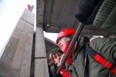 Πηδώντας υπόβαθρο θαμπάδων θέματος γεγονότος σχοινιών Στοκ Φωτογραφίες