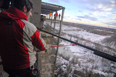 Πηδώντας υπόβαθρο θαμπάδων θέματος γεγονότος σχοινιών Στοκ φωτογραφία με δικαίωμα ελεύθερης χρήσης