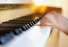 πιάνο λεπτομέρειας στοκ εικόνα