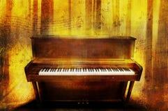 πιάνο μουσικής Στοκ εικόνα με δικαίωμα ελεύθερης χρήσης