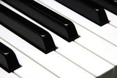 πιάνο πλήκτρων κινηματογραφήσεων σε πρώτο πλάνο Στοκ φωτογραφία με δικαίωμα ελεύθερης χρήσης