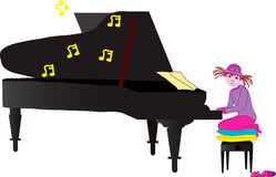 πιάνο που παίζει το Ζωή διανυσματική απεικόνιση