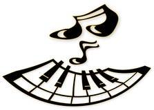 πιάνο προσώπου Διανυσματική απεικόνιση