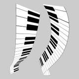 πιάνο πλήκτρων διανυσματική απεικόνιση