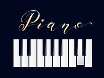 πιάνο πλήκτρων απεικόνιση αποθεμάτων