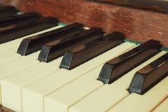 Πιάνο πληκτρολογίων, πλάγια όψη του μουσικού εργαλείου οργάνων Στοκ Εικόνα