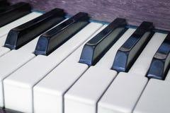 Πιάνο πληκτρολογίων, πλάγια όψη του μουσικού εργαλείου οργάνων Στοκ Εικόνες
