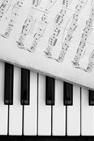 πιάνο σημειώσεων πλήκτρων Στοκ εικόνα με δικαίωμα ελεύθερης χρήσης