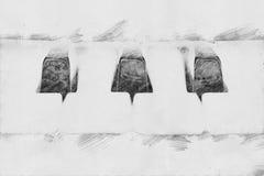 Πιάνο Σκίτσο με το μολύβι Στοκ Φωτογραφίες