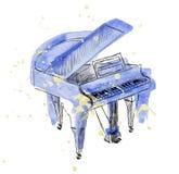 Πιάνο σκίτσων Στοκ Φωτογραφίες