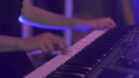 Πιάνο συναυλίας τζαζ μουσικής απόθεμα βίντεο