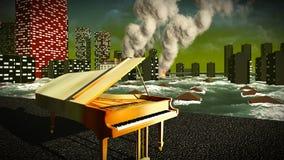 Πιάνο ως σύμβολο της περιφρόνησης Στοκ Φωτογραφία