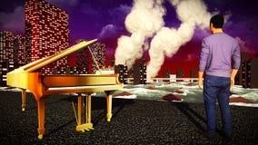 Πιάνο ως σύμβολο της περιφρόνησης Στοκ Εικόνες