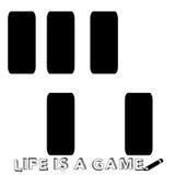 Πιάνο όπως ένα παιχνίδι της ζωής διανυσματική απεικόνιση