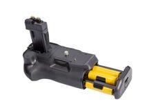 Πιάσιμο μπαταριών για τη σύγχρονη κάμερα DSLR στοκ εικόνα