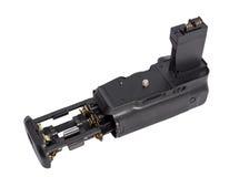 Πιάσιμο μπαταριών για τη σύγχρονη κάμερα DSLR στοκ εικόνες