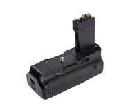 Πιάσιμο μπαταριών για τη σύγχρονη κάμερα DSLR στοκ εικόνα με δικαίωμα ελεύθερης χρήσης