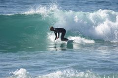 Πιάστε τα κύματα Στοκ Εικόνα