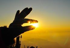 Πιάστε τον ήλιο Στοκ φωτογραφίες με δικαίωμα ελεύθερης χρήσης