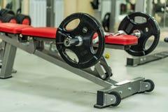 Πιάτα αλτήρων και barbell βάρους ικανότητας Στοκ Εικόνες