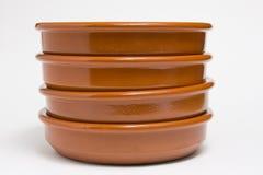 πιάτα αργίλου Στοκ Εικόνες