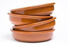 πιάτα αργίλου Στοκ εικόνα με δικαίωμα ελεύθερης χρήσης