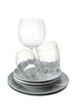 πιάτα γυαλιών Στοκ Εικόνα