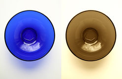 πιάτα δύο γυάλινα στοκ φωτογραφίες