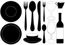 Πιάτα εστιατορίων Στοκ εικόνες με δικαίωμα ελεύθερης χρήσης