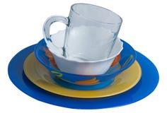 Πιάτα και γυαλιά Στοκ εικόνες με δικαίωμα ελεύθερης χρήσης