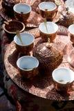 πιάτα καφέ Στοκ Φωτογραφίες