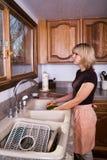 πιάτα που κάνουν τη νοικο&k στοκ φωτογραφία